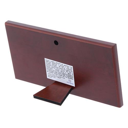 Cuadro bilaminado parte posterior madera preciosa Última Cena 7,5x15 cm 3