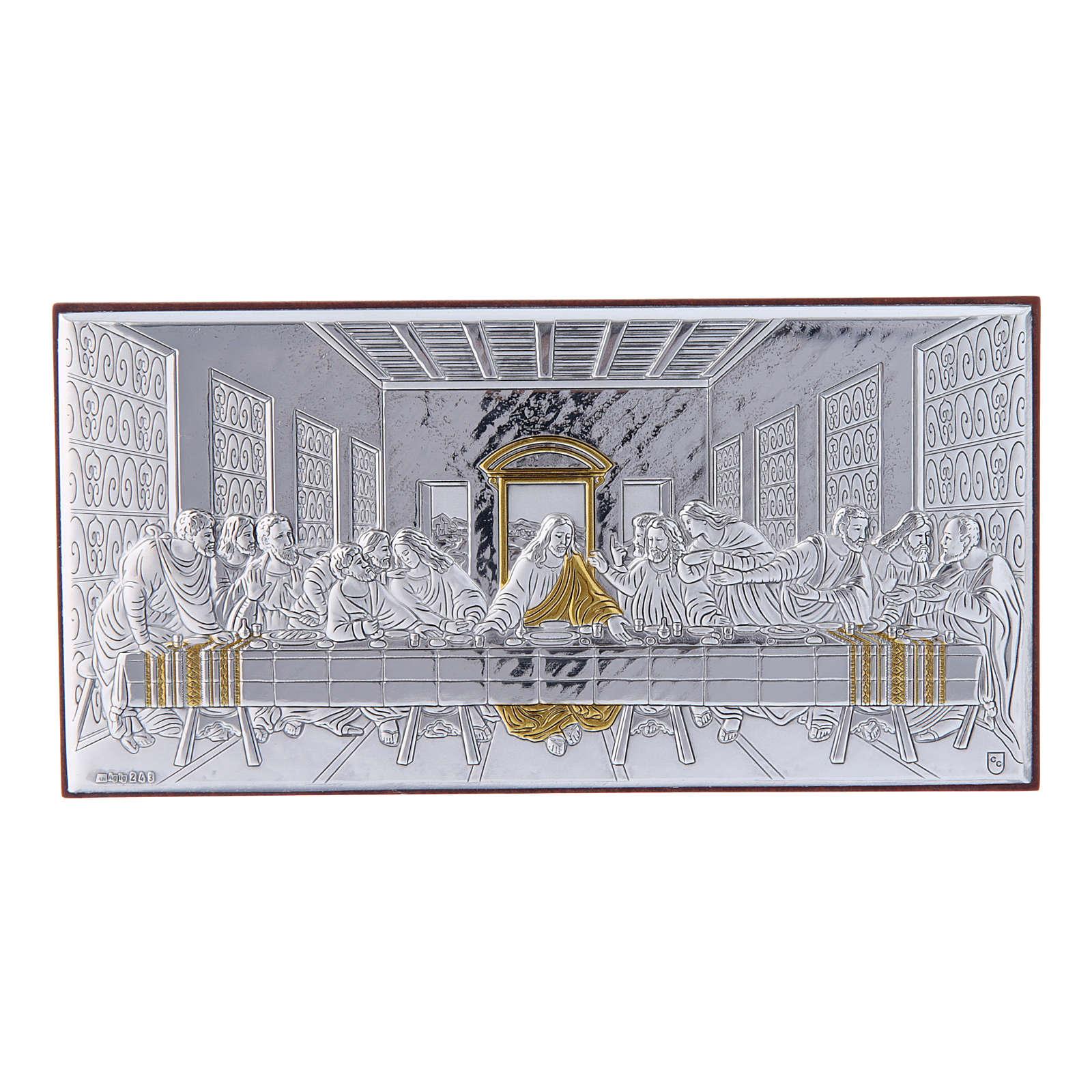 Quadro bilaminato retro legno pregiato Ultima Cena 7,5X15 cm 4