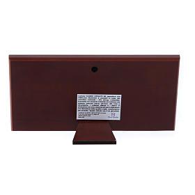 Quadro Ultima Cena colorato bilaminato retro legno pregiato 7,5X15 cm s3