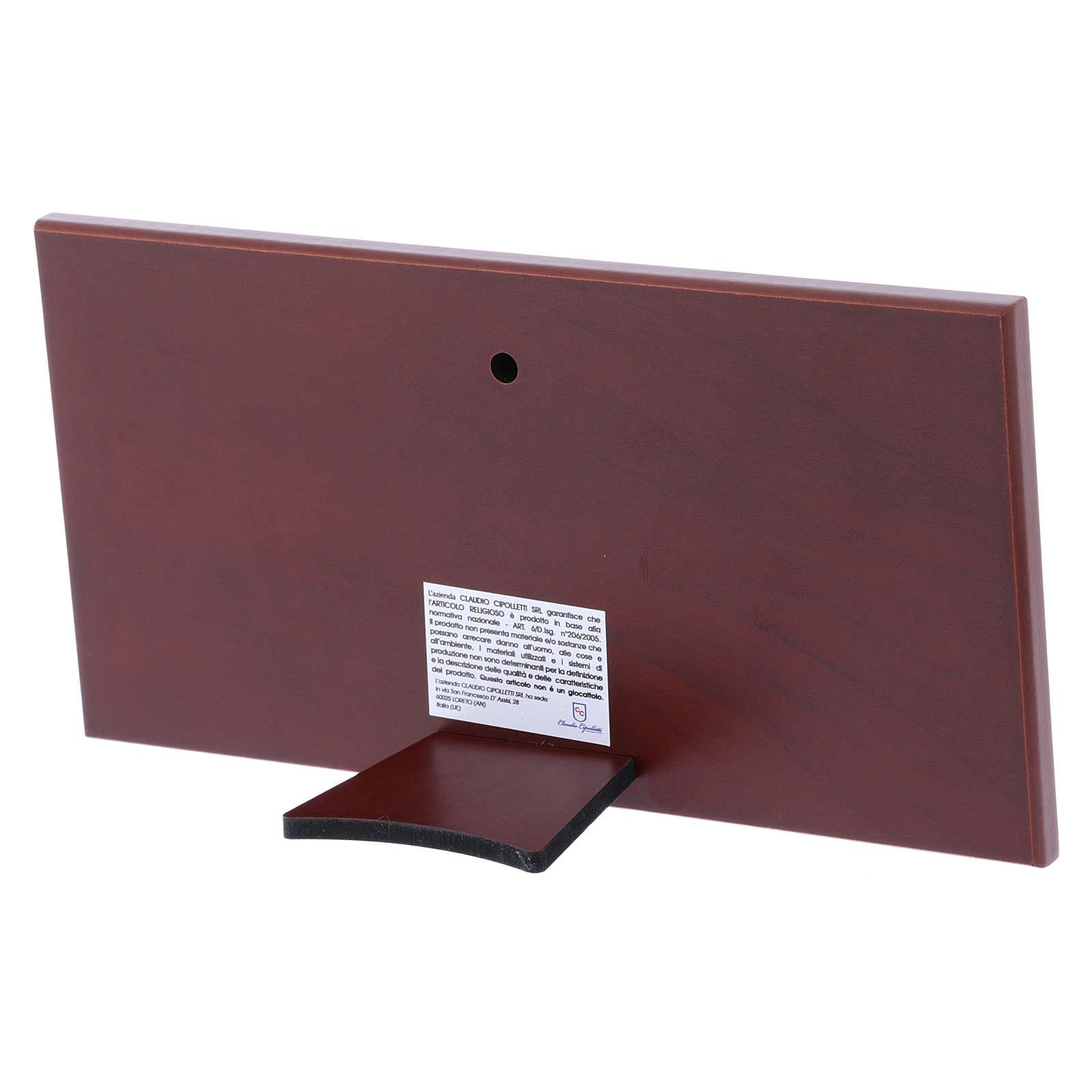 Quadro bilaminato retro legno pregiato Ultima Cena 11,2X22,4 cm 4