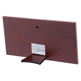 Quadro bilaminato retro legno pregiato Ultima Cena 11,2X22,4 cm s3