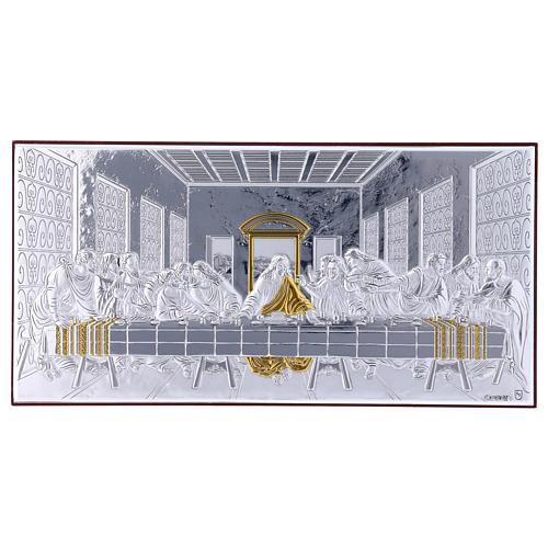 Quadro bilaminato retro legno pregiato Ultima Cena 11,2X22,4 cm 1