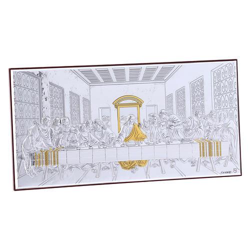 Quadro bilaminato retro legno pregiato Ultima Cena 11,2X22,4 cm 2