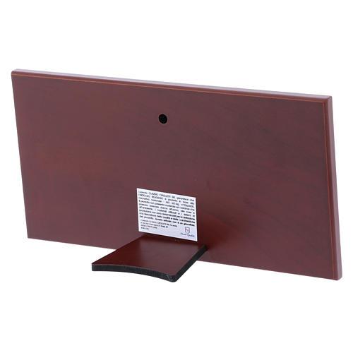 Quadro bilaminato retro legno pregiato Ultima Cena 11,2X22,4 cm 3