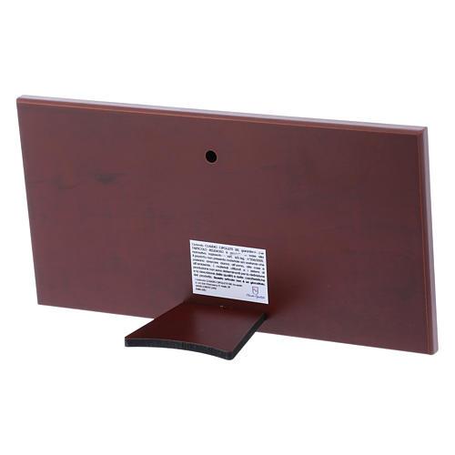 Quadro Ultima Cena colorato bilaminato retro legno pregiato 11,2X22,4 cm 3