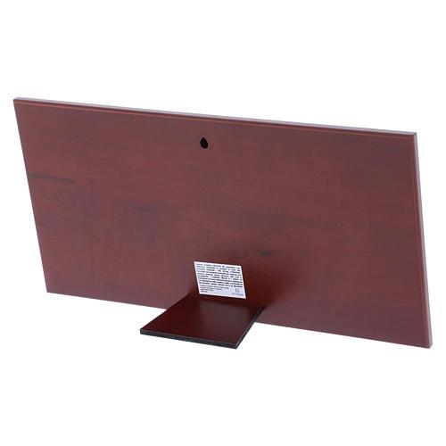 Cuadro bilaminado parte posterior madera preciosa Última Cena 16,8x33,6 cm 3
