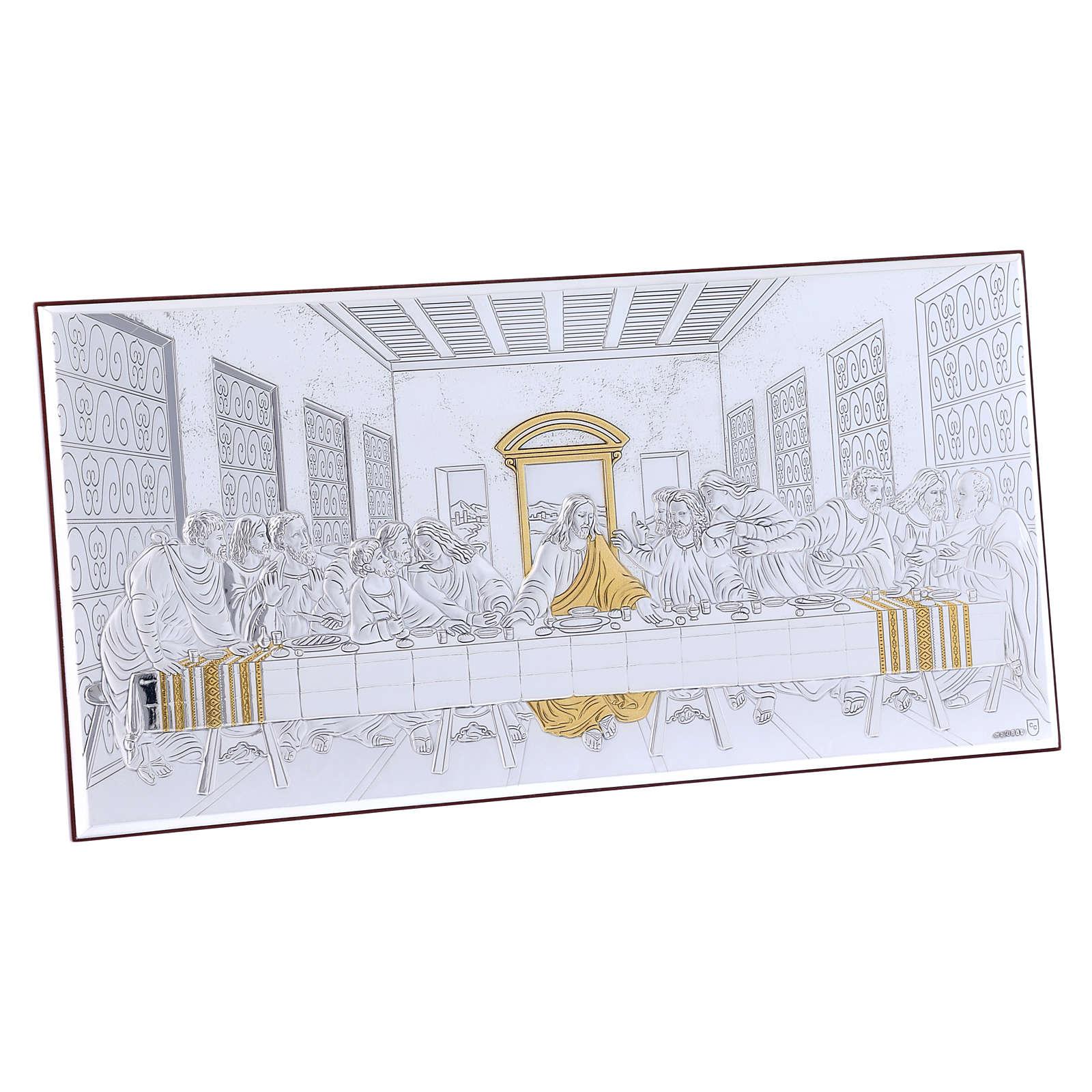 Quadro bilaminato retro legno pregiato Ultima Cena 16,8X33,6 cm 4