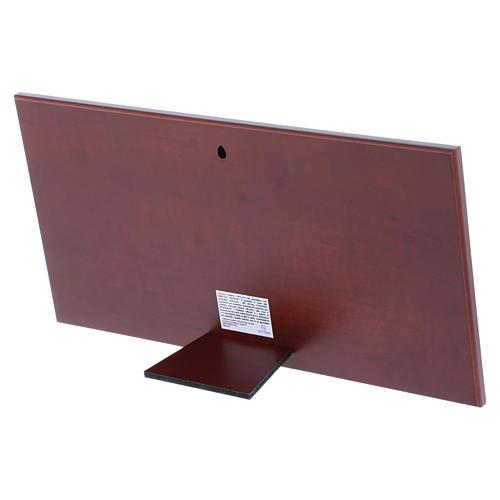 Quadro Ultima Cena colorato bilaminato retro legno pregiato 16,8X33,6 cm 3