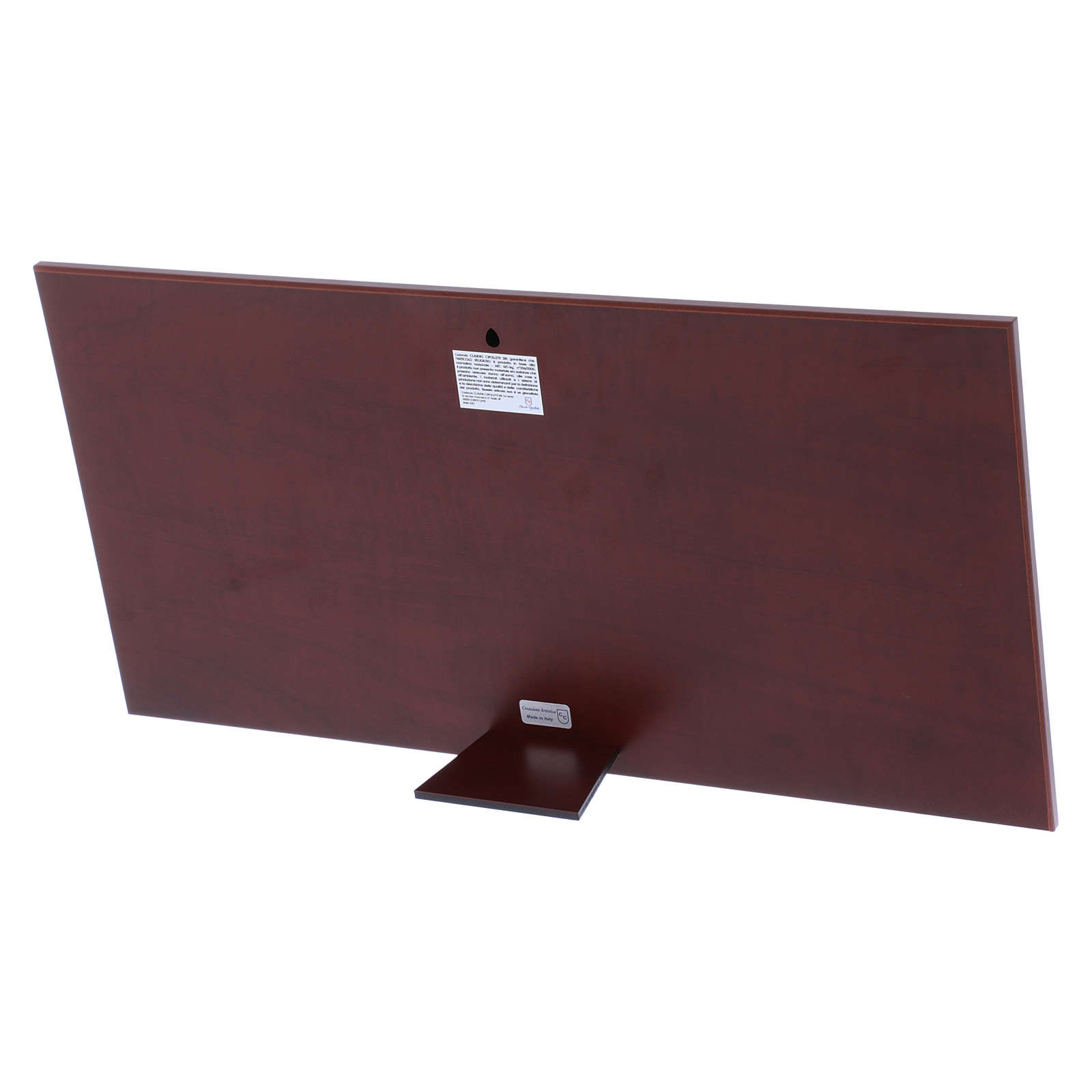 Quadro Ultima Cena colorato bilaminato retro legno pregiato 23X46 cm 4