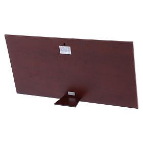 Quadro Ultima Cena colorato bilaminato retro legno pregiato 23X46 cm s3