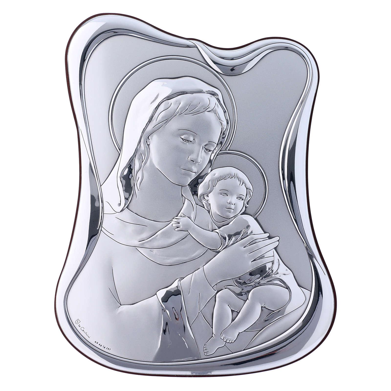 Quadro bilaminato retro legno pregiato Maria Gesù 21,6X16,3 cm 4
