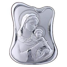 Quadro bilaminato retro legno pregiato Maria Gesù 21,6X16,3 cm s1