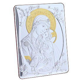Our Lady of Vladimir painting finished in gold, made of laminboard with refined wooden back 21,6X16,3 cm s2