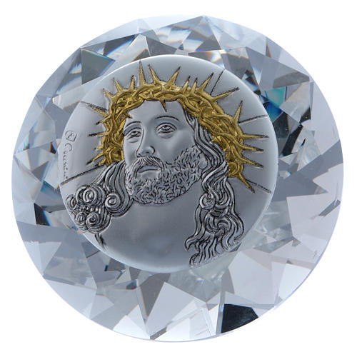 Diamante con placa metal Ecce Homo 4 cm 1