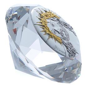 Diamante con placca metallo Ecce Homo 4 cm s2