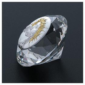 Diamante con placca metallo Ecce Homo 4 cm s3
