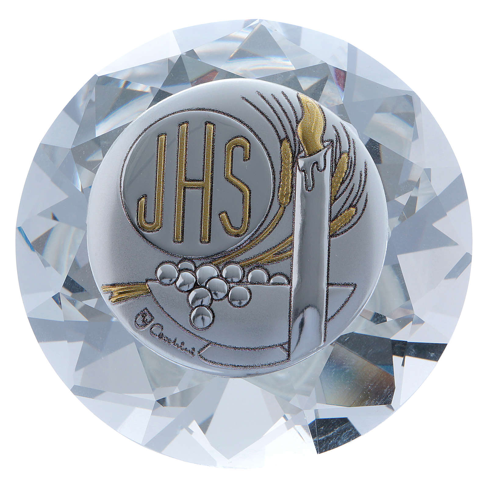 Candle crystal diamond with metal plate JHS 4 cm 3