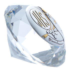 Candle crystal diamond with metal plate JHS 4 cm s2