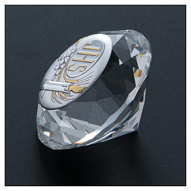 Candle crystal diamond with metal plate JHS 4 cm s3