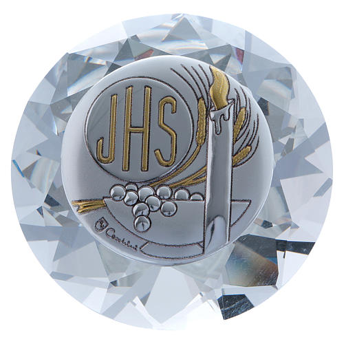 Candle crystal diamond with metal plate JHS 4 cm 1