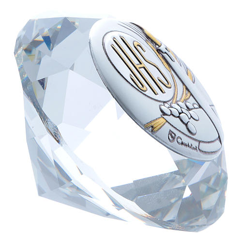 Candle crystal diamond with metal plate JHS 4 cm 2