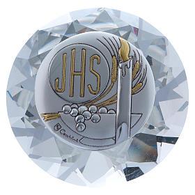Diamante de cristal con placa metal Vela JHS 4 cm s1