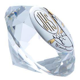 Diamant avec plaque métal Bougie IHS 4 cm s2