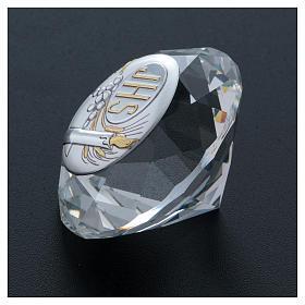 Diamante com chapa metal Vela IHS 4 cm s3