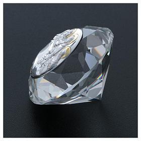 Diamante con placa metal Última Cena 4 cm s3