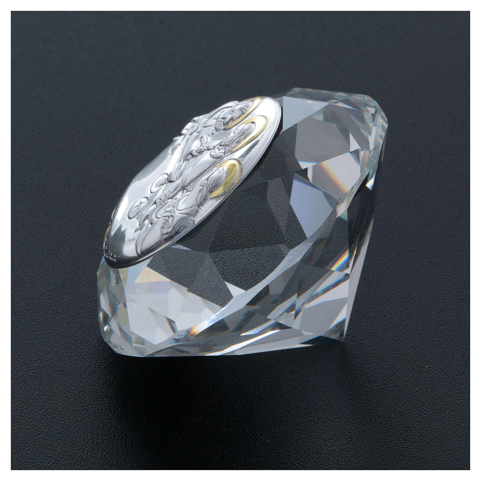 Diamante con placca metallo Ultima Cena 4 cm 3