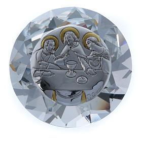 Diamante con placca metallo Ultima Cena 4 cm s1