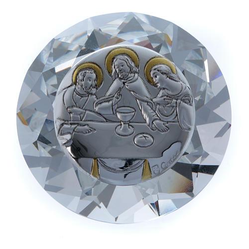 Diamante con placca metallo Ultima Cena 4 cm 1