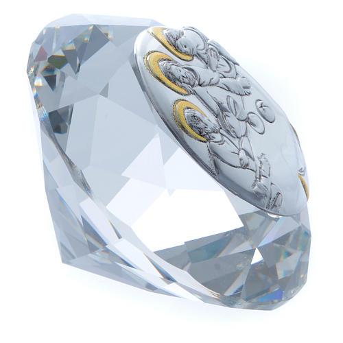 Diamante con placca metallo Ultima Cena 4 cm 2