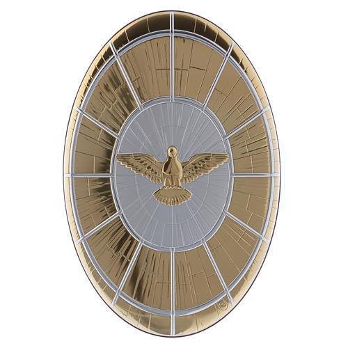Quadro Colomba oro in bilaminato con retro  legno 33X22 cm 1