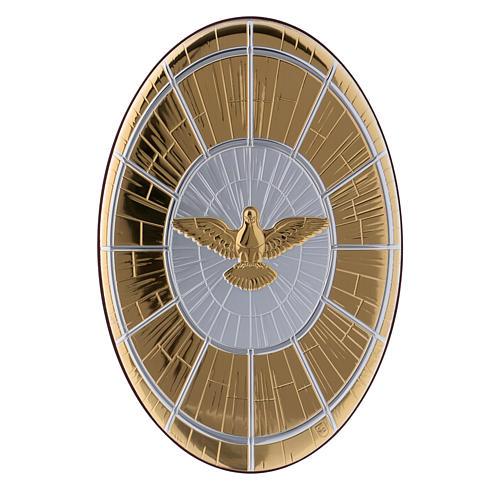 Quadro Colomba oro in bilaminato e legno pregiato 24,7X16,5 cm 1