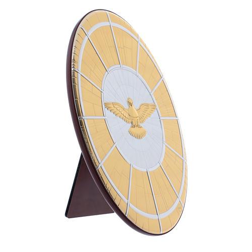 Quadro Colomba oro in bilaminato e legno pregiato 24,7X16,5 cm 2