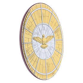 Quadro Colomba oro in bilaminato rotondo 15X10 cm s2