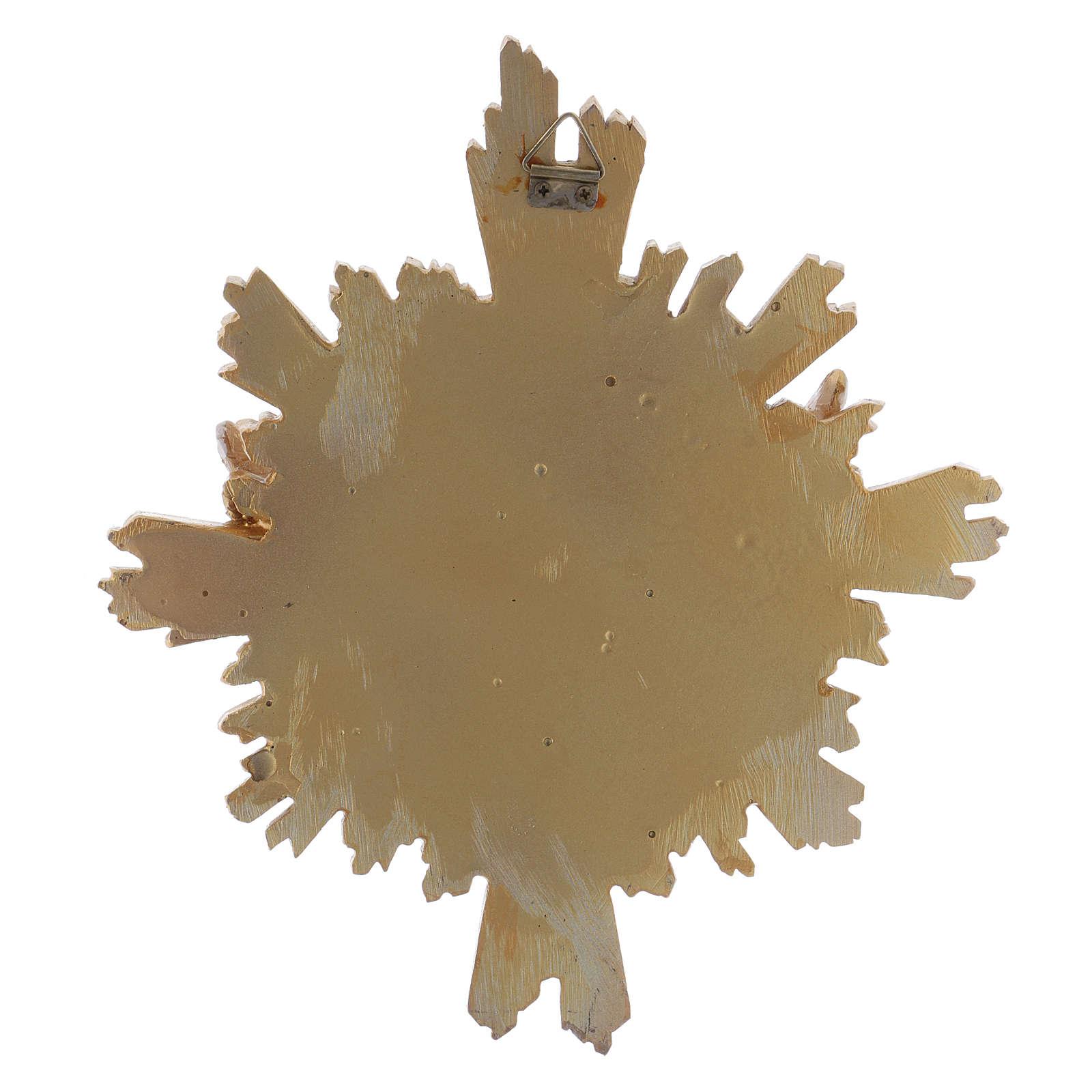 Cuadro de resina Paloma decorado a mano 25x22 cm 4