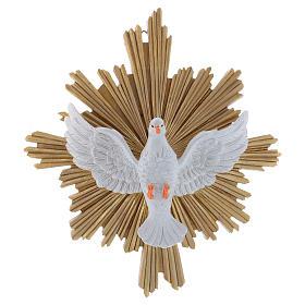 Cuadro de resina Paloma decorado a mano 25x22 cm s1