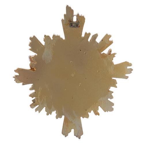 Cuadro de resina Paloma decorado a mano 25x22 cm 3