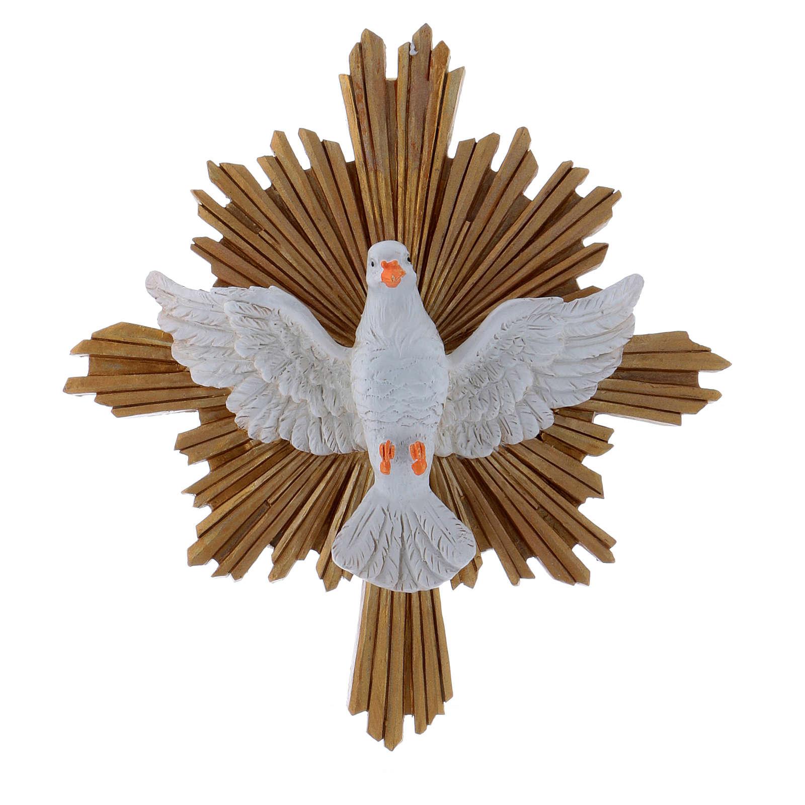 Dove painting in resin 20,3X18,3 cm 4
