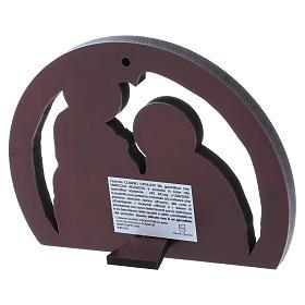 Quadro Sacra Famiglia in alluminio e legno pregiato 10X14 cm s3