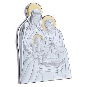 Holy Family painting in aluminium 14X10 cm s2