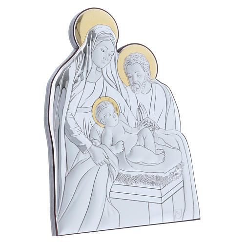 Holy Family painting in aluminium 14X10 cm 2
