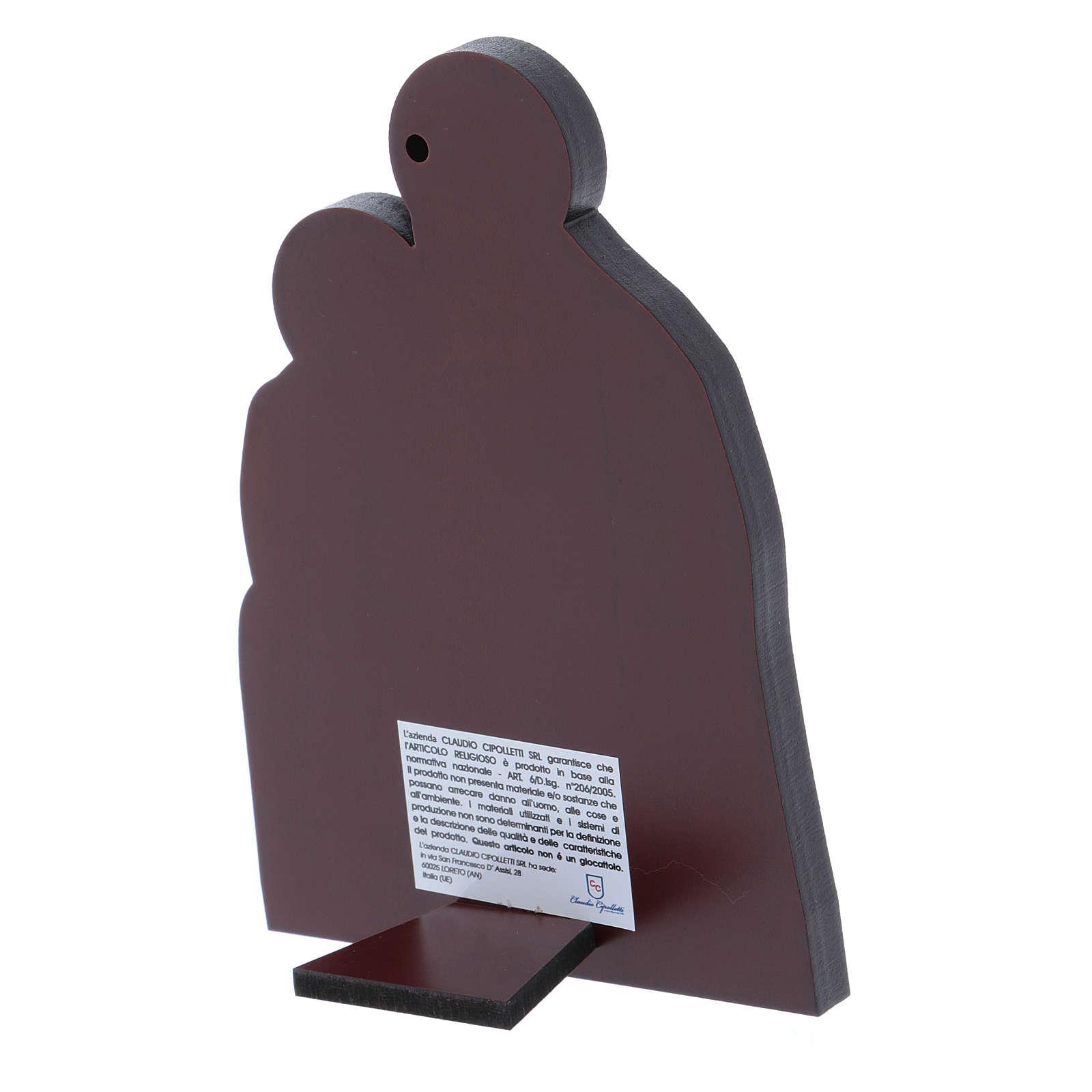 Quadro Natività in alluminio 14X10 cm 4