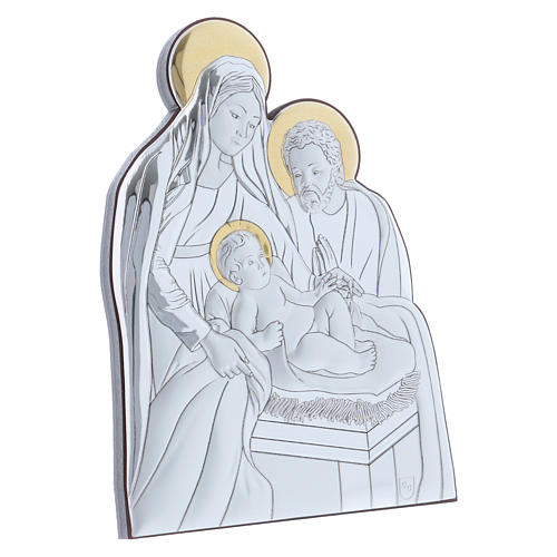 Holy Family painting in aluminium 14X10 cm 2