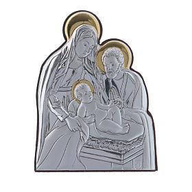 Quadro Natività in alluminio finiture oro 6,4X4,8 cm s1