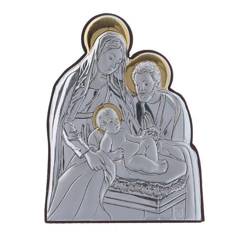 Quadro Natività in alluminio finiture oro 6,4X4,8 cm 1