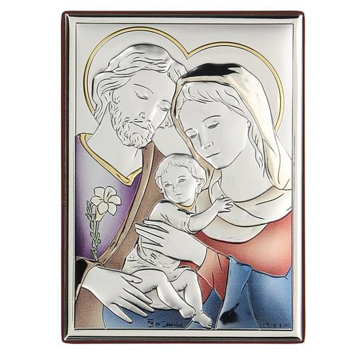 Bilaminate bas-relief Holy Family 11x8 cm 1