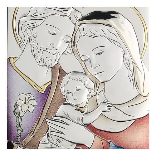 Bilaminate bas-relief Holy Family 11x8 cm 2